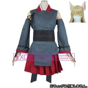 VOCALOID 鏡音リン 蘇芳 妖狐 風 コスプレ衣装