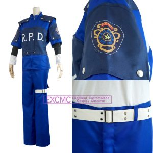 バイオハザード2 レオン・S・ケネディ 警官 風 コスプレ衣装3