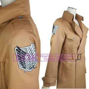 進撃の巨人 調査兵団ロングコート 風 コスプレ衣装3