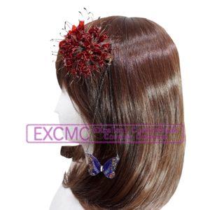 ヘタリア 日本娘 2Pカラー 彼岸花髪飾り 風 コスプレ用アクセサリー